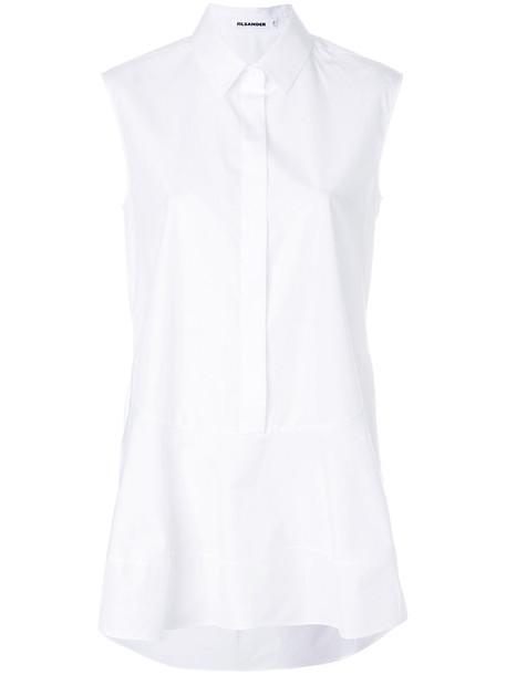 shirt sleeveless shirt sleeveless women white cotton top