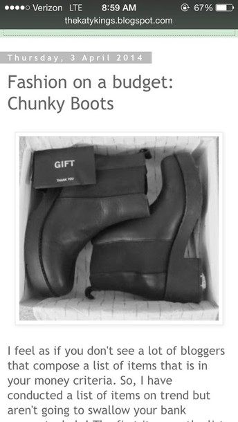 shoes bulky boots