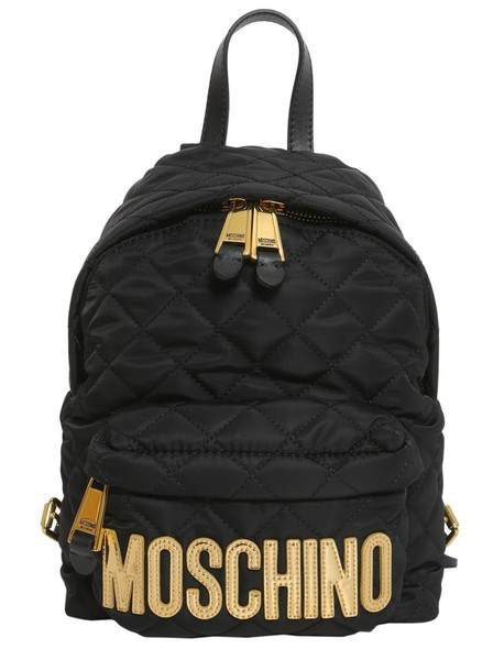 Moschino quilted backpack bag