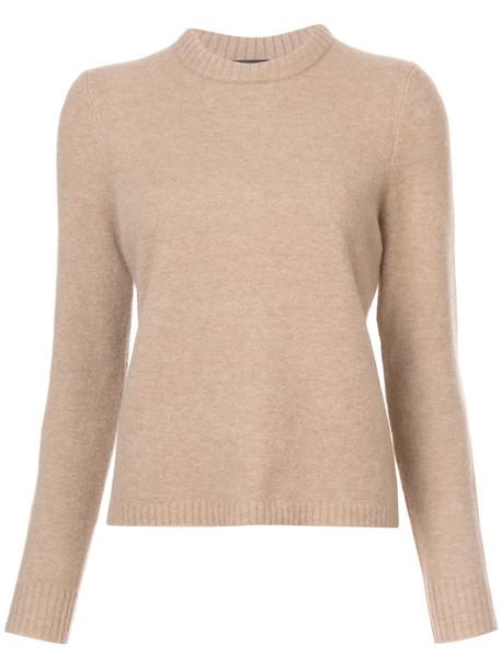Jenni Kayne - crew neck jumper - women - Nylon/Spandex/Elastane/Cashmere/Wool - M, Nude/Neutrals, Nylon/Spandex/Elastane/Cashmere/Wool