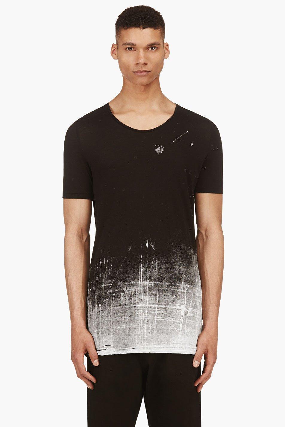 ma julius black and grey modal jersey gradient t_shirt