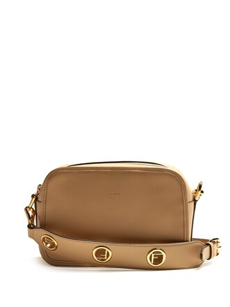 cross bag leather beige