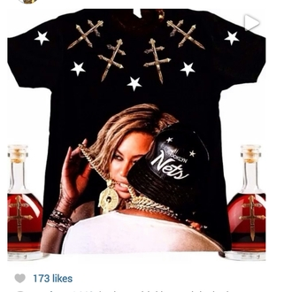 shirt drunk in love black jay z stars