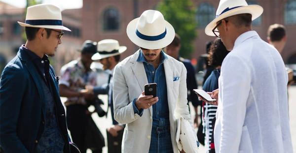 hat borsalino brim hat white blue summer menswear designer fashion trend made in italy italian Best gift for men gifts for him gifts for boyfriend