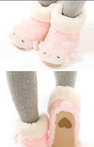 shoes otaku mode slippers lama pink heart