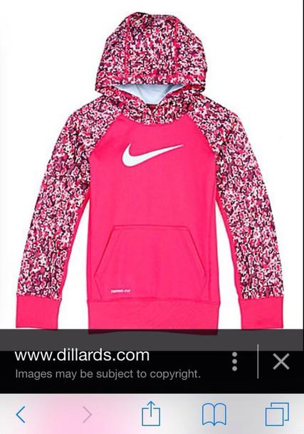 coat pink girly nike