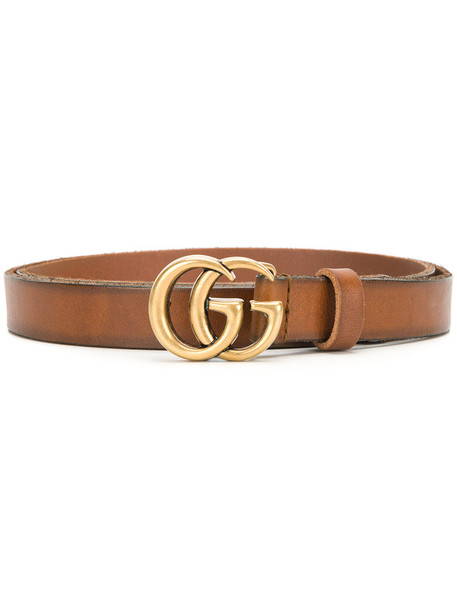 gucci women belt leather brown