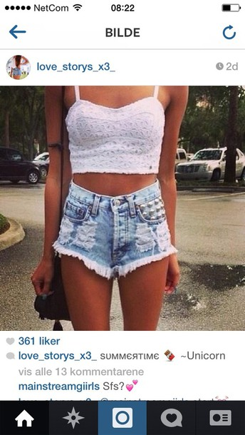 shorts crop tops tank top