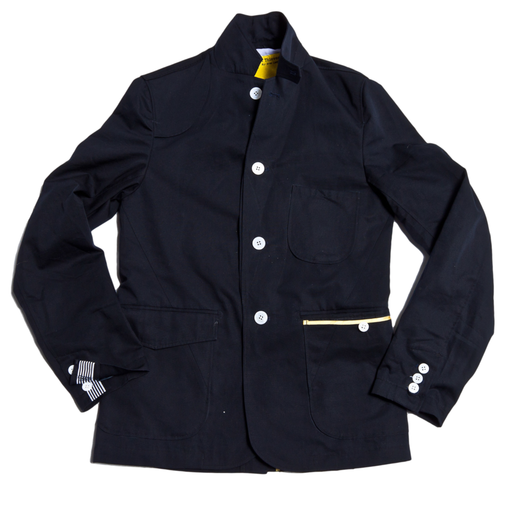 Navy Twill Blazer