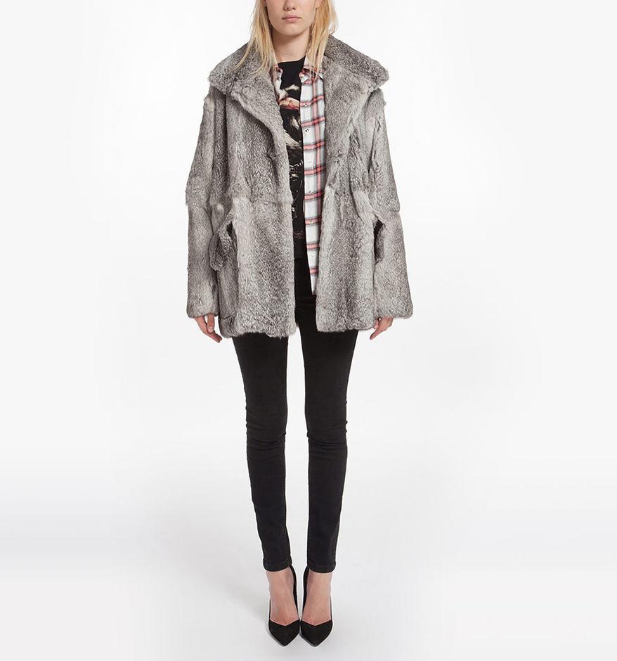 nouveau style a02b9 9bbd5 Manteau en fourrure de lapin - Manteaux & Blousons - Maje.com