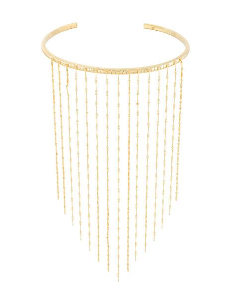 I.V.I. women necklace gold grey metallic jewels
