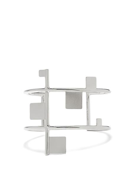 Isabel Marant cuff geometric embellished silver jewels