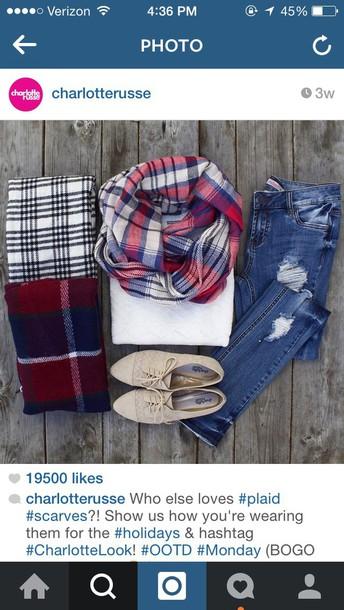 scarf flannel scarf