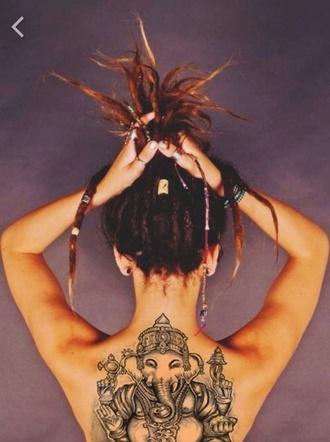 hair accessory dreadlocks art henna elephant print hinduism make-up freedom jewels summer holidays boho