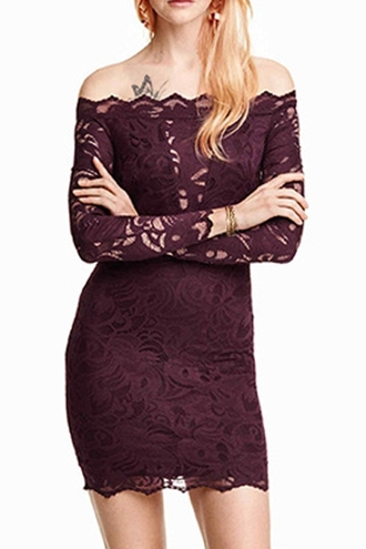dress zaful burgundy lace dress bodycon dress style summer dress off the shoulder stylish club dress prom dress classy