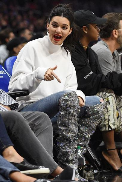 sweater turtleneck turtleneck sweater jeans boots kendall jenner kardashians model off-duty shoes