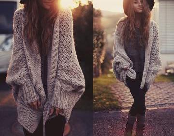 Batwing cardigan sweater coat