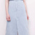 Light Blue High Waist Slit A Line Bodycon Denim Skirt