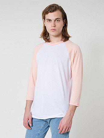 Cotton 3/4 sleeve raglan shirt