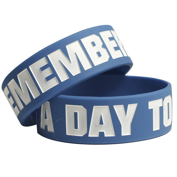 A Day To Remember: A Day To Remember Logo Blue Bracelet - Victory Merch