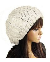 FUNOC Women Ladies Baggy Beret Chunky Knit Knitted Braided Beanie Hat Ski Cap at Amazon Women's Clothing store:
