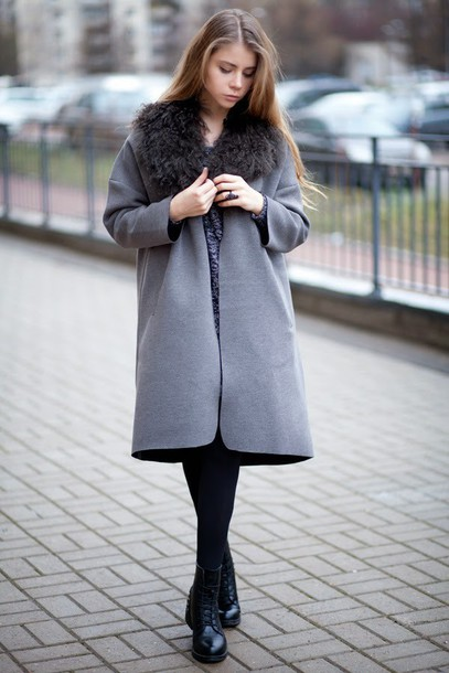 acid coke blogger coat grey grey coat