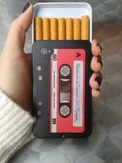 jewels,tape,cigarette,cigarette case
