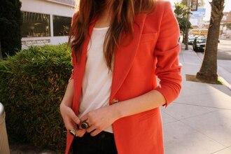 blazer jacket coral jacket coral