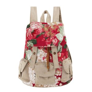 Amazon.com: ZLYC Ethnic Floral Print Canvas Backpack: Sports & Outdoors