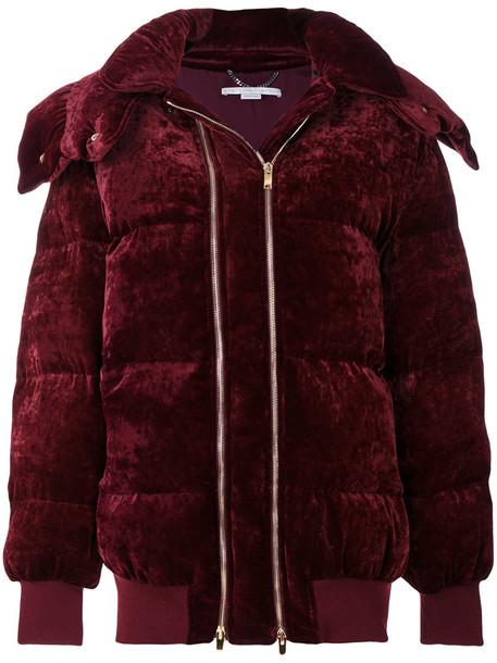 jacket puffer jacket women silk wool velvet red