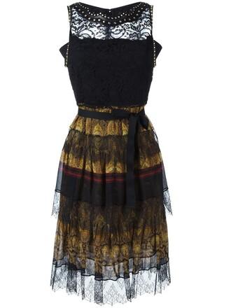 dress women lace leather cotton black silk