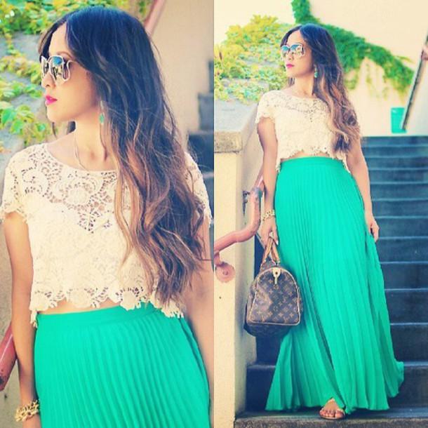 skirt pleated pleated skirt maxi maxi skirt blue