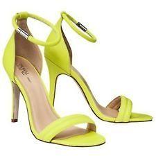 Gurung Neon Yellow Green Lime Stiletto Ankle Strap Heels Sz 9 | eBay