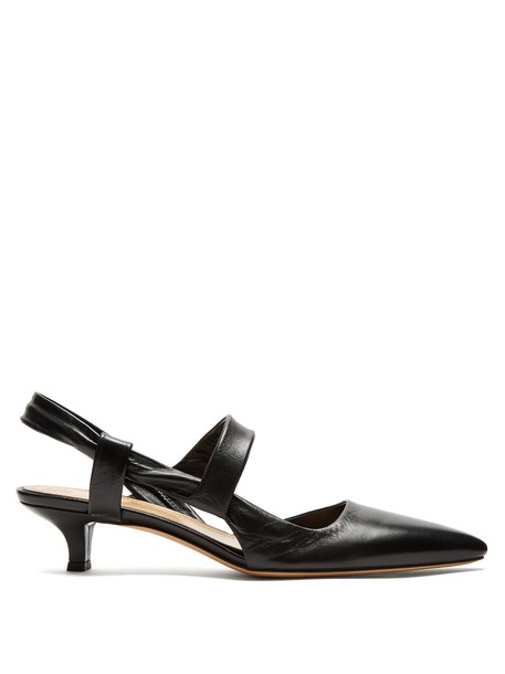 The Row pumps leather black shoes