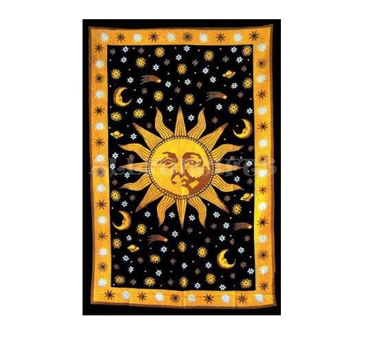 Celestial sun tapestry
