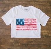 shirt,meridian line,american flag,america,white shirt,t-shirt
