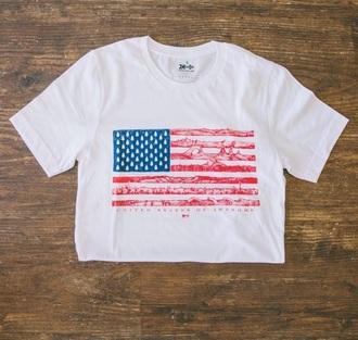 shirt meridian line american flag america white shirt t-shirt