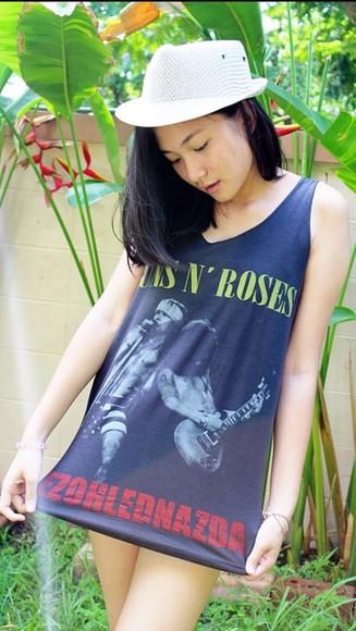 shirt top tank top vest guns n roses tank top guns 'n roses guns  n roses guns and roses