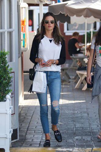 top long sleeves alessandra ambrosio streetstyle baseball tee shoes