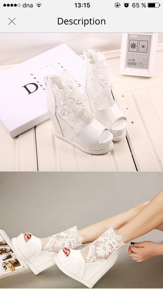 shoes white heels high heels