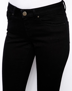ASOS | ASOS Whitby Low Rise Skinny Jeans in Clean Black at ASOS