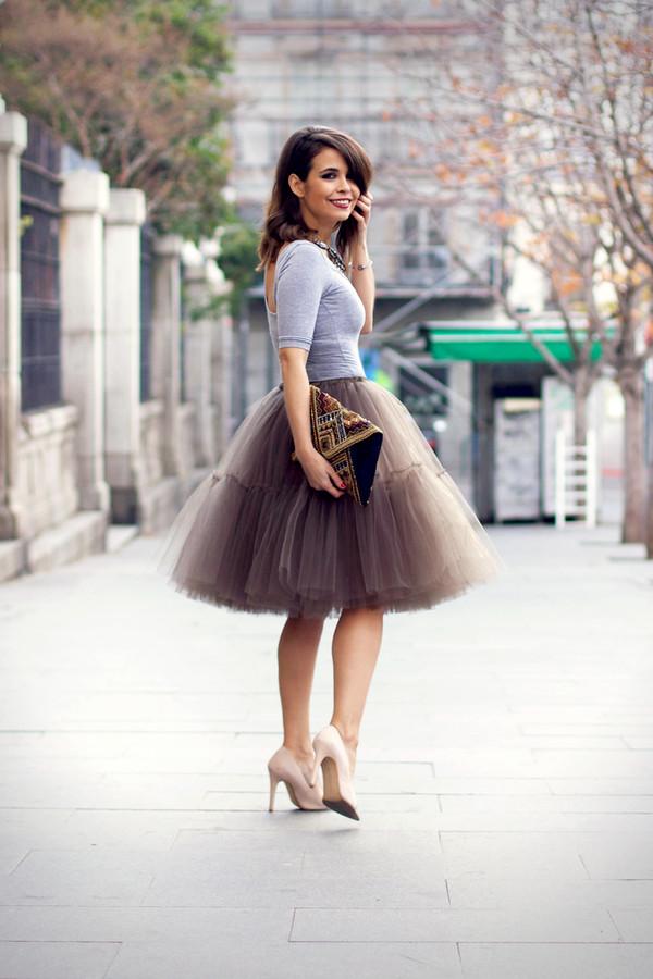 skirt tulle skirt brown cute