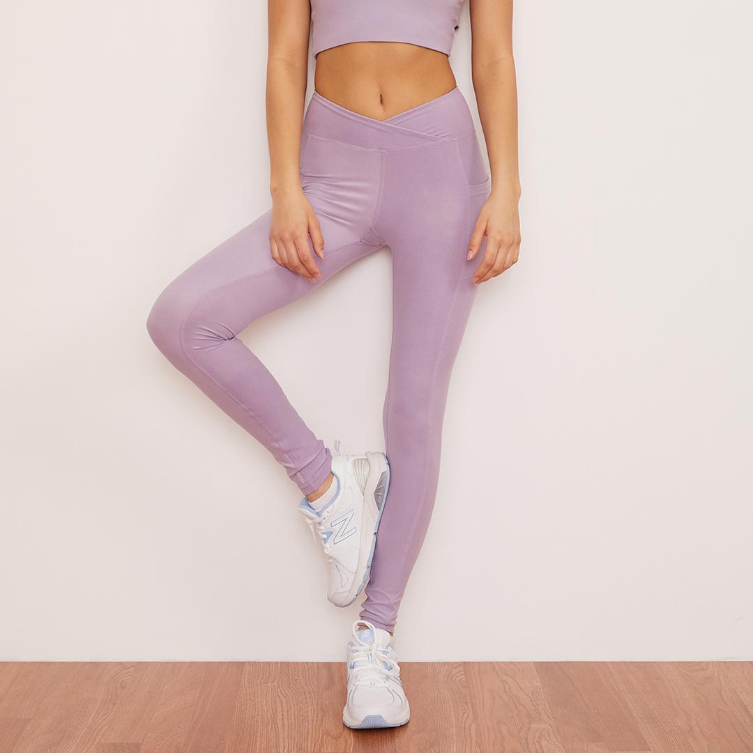 Lavender Crossover Pocket Legging