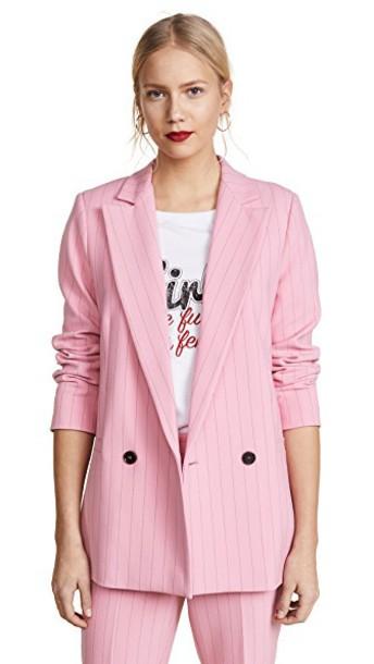 Ganni blazer sea pink jacket