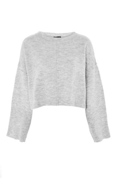 sweater cropped sweater cropped grey