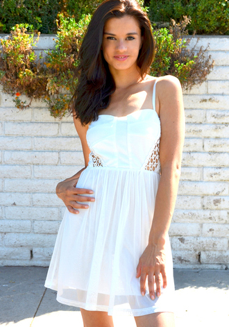 dress white white dress cut-out dress cut-out dress cut out dress crochet crochet dress white crochet dress white crochet white cut out dress
