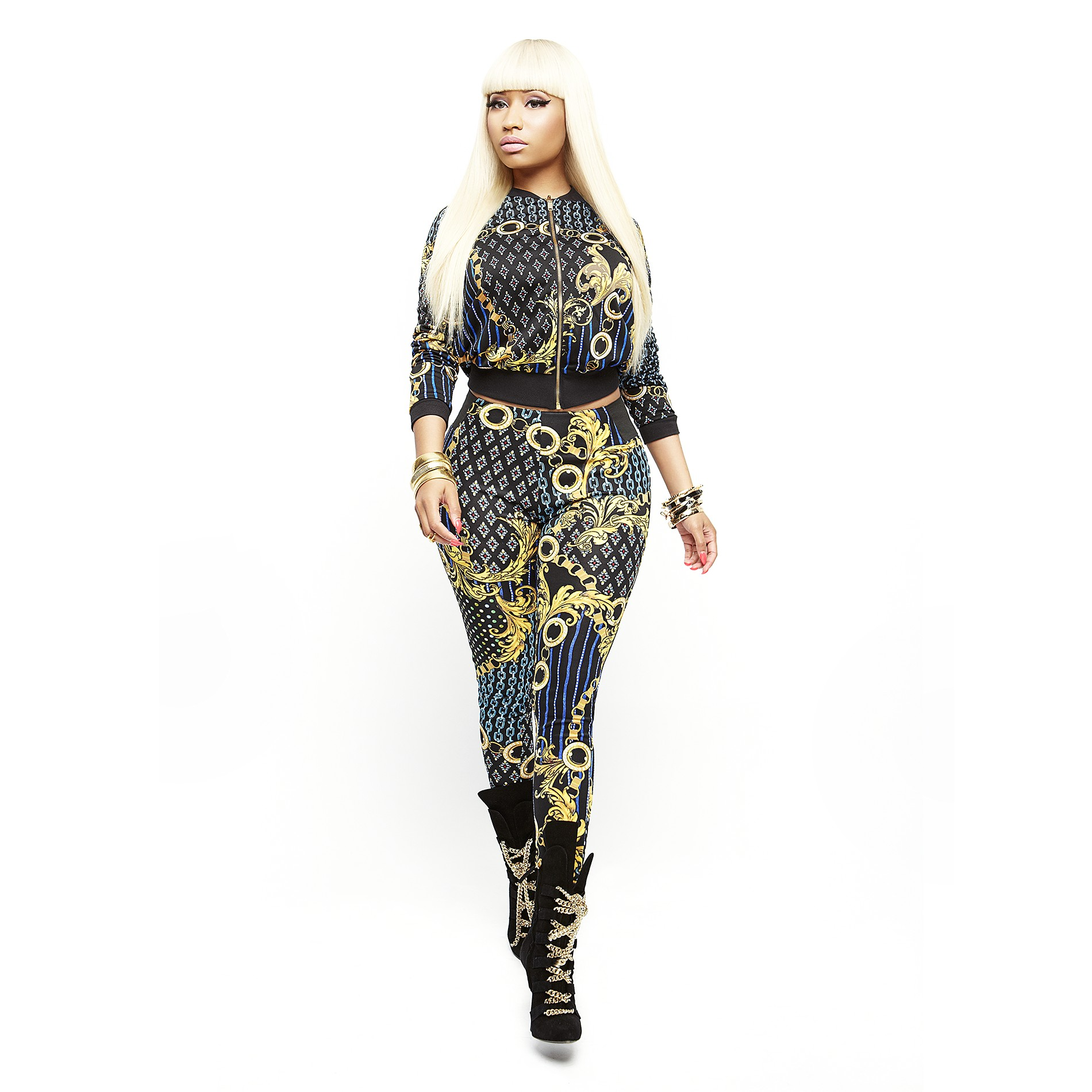 Nicki Minaj Women's Bomber Jacket - Chain Print - Clothing - Women's - Jackets & Blazers