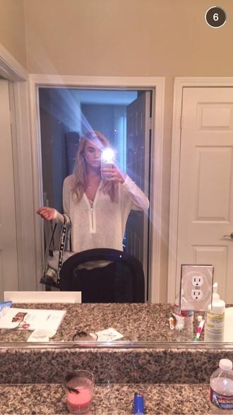 blouse white blouse zip