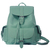 ROMWE | Magnetic Button Multi-pockets Mint Green Backpack, The Latest Street Fashion