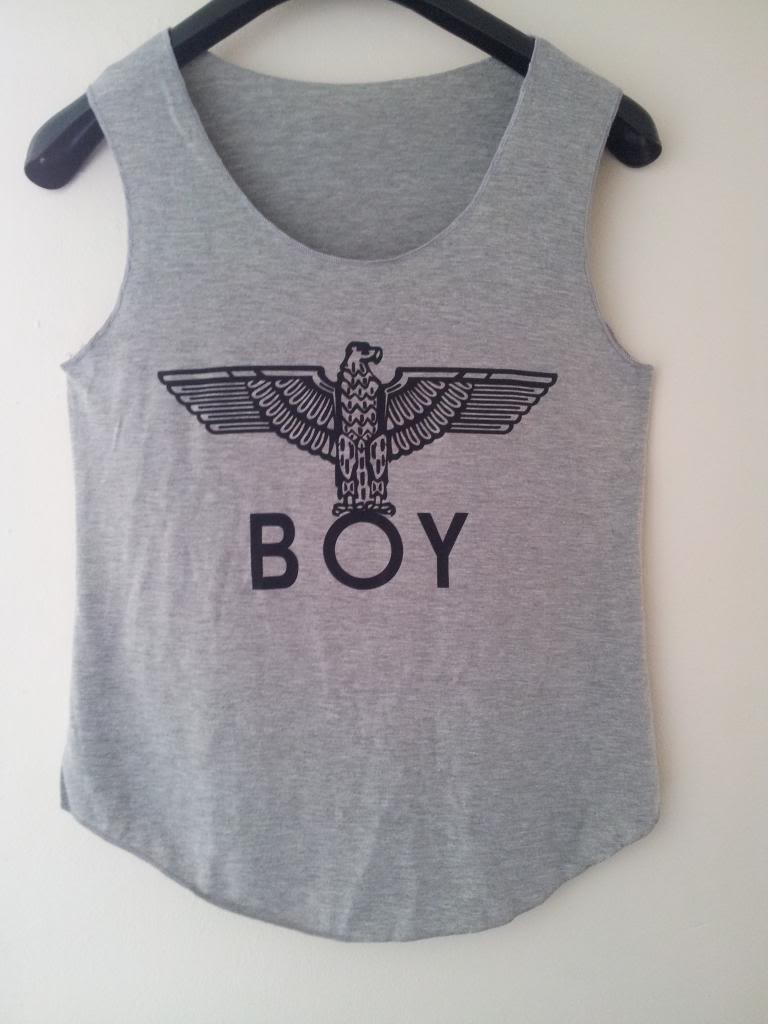 ladies vest top boy london eagle london boy grey | eBay